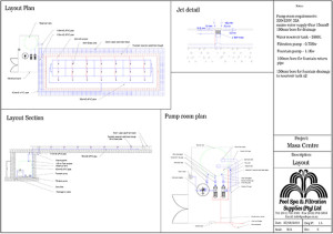 Pool Spa - Layout Drawing Sample