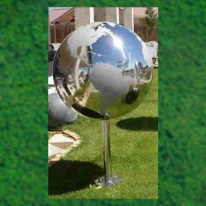 Stainless Steel Continents Water Spheres With Base